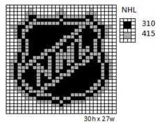 Crochet Fanatic: NHL Logos and Name Plates Perler Patterns, Loom Patterns, Beading Patterns, Cross Stitch Patterns, Plastic Canvas Crafts, Plastic Canvas Patterns, Fuse Beads, Pearler Beads, Crochet Square Blanket