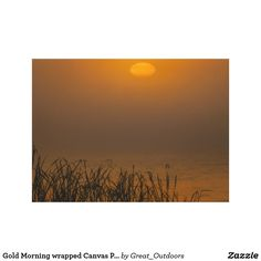 Gold Morning wrapped Canvas Print