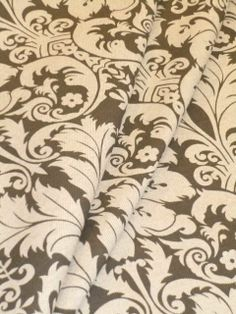 Pattern Charlotte color Fossil Decorator Fabric see at http://store.schindlersfabrics.com/ladepachcofo.html  large floral crest design  #Decoratorfabric #floralfabric #homedecor