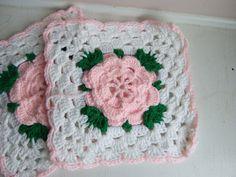 Rose Trellis Afghan - free crochet pattern