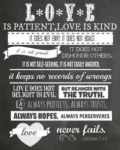 I Love this verse from 1 Corinthians 13: 4-8.   I made these prints to display at home and again, I am    sharing them with you, so that...