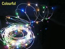 2m 20 LEDs Submersible Wire String Light Battery Powered Fairy Light Multi Color