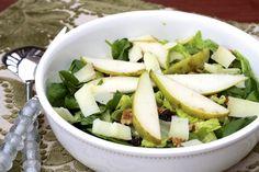 cranberry, pear, walnut salad with manchego