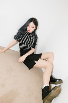 Double Slit Front Mini Skirt | MIX X MIX | Shop Korean fashion casual style clothing, bag, shoes, acc and jewelry for all