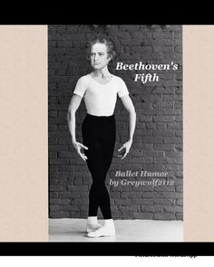 This is a little ballet humor I made for my ballerina friends on instagram. It's Beethoven's Fifth Position.