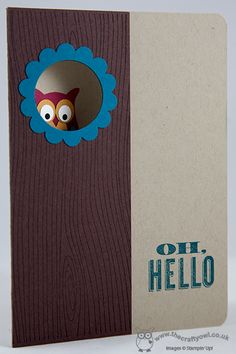 Hello Mr Owl - Good grief! I might need to get the wood grain stamp just to make this card.