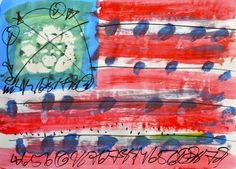 """Saatchi Art Artist MISHA DONTSOV; Painting, """"Imaginary Flag"""" #art"""