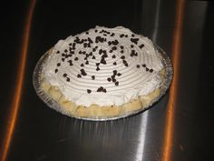 chocolate creme pie( hungry yet? )