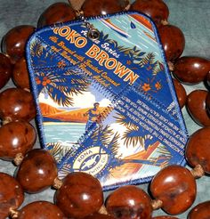 Luggage Tag from Recycled Kona Brewing Koko Brown beer labels by squigglechick, $12.00
