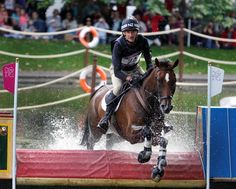 New Zealand S Mark Todd Riding Campino Takes On The Water Jumps During Individual Eventing Cross Country At Greenwich Park Equestrian Centre In London