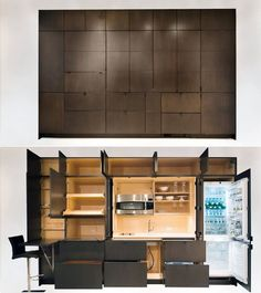 A Stealth Kitchen Hidden Kitchen, Mini Kitchen, Income Property, Rental Property, Entertainment Room, Beautiful Homes, Cool Things To Buy, Interior Design, Outdoor Decor