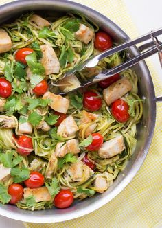"Is your belly bloated, especially after eating meals? Do you have more gas than usual? Are you constipated or have bouts of diarrhea? Do you have what you think of as a ""nervous stomach""? Do you have (Zucchini Noodle Recipes) Paleo Recipes, Real Food Recipes, Chicken Recipes, Cooking Recipes, Fast Metabolism Recipes, Fast Metabolism Diet, Clean Eating, Healthy Eating, Cilantro Lime Chicken"