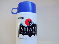 Vintage Batman The Animated Series Thermos 1992 by WylieOwlVintage, $9.50
