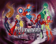 Winx club & avengers crossover