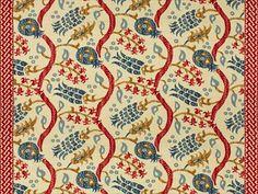Brunschwig & Fils NISIOTIKO LINEN PRINT POMEGRANATE/OXFORD BLUE BR-700019.176 - Brunschwig & Fils - Bethpage, NY, BR-700019.176,Brunschwig & Fils,Print,Blue, Red/Burgundy,Red, Blue,S,Softened,UFAC Class 2,Up The Bolt,USA,Ikat/Southwest/Kilims,Multipurpose,Yes,Brunschwig & Fils,Yes,Les Alizés,NISIOTIKO LINEN PRINT POMEGRANATE/OXFORD BLUE