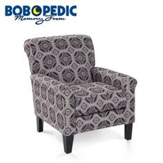 The transitional style of the fabric allows it to be eaisly paired up with a coffee table and rug to make your room complete! Accent Chairs For Living Room, Living Room Furniture, Toddler Learning Activities, Transitional Style, Industrial Furniture, Discount Furniture, Apartment Living, Armchair, Sweet Home
