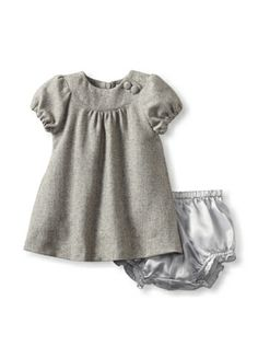 55% OFF Baby CZ by Carolina Zapf Girl\'s Tweed Eden Dress (Silver)