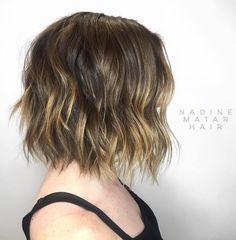 Wavy Highlighted Haircut