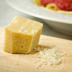 Dairy free parmesan cheese, made with a coconut butter base #paleo