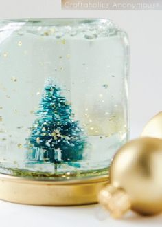 Looking for a creative way to use those empty baby food jars? This easy tutorial is a fun upcycling kids' craft you can make with jars of all sizes, and you'll love the wintry, glittery touches of homemade decor placed around your home.