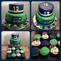 Last Seahawks cake before today's Super Bowl!!!!! GO SEAHAWKS!!!!
