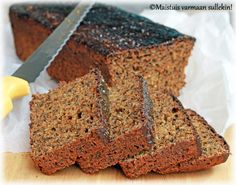 Maistuis varmaan sullekin!: Kemiön limppu Bread Baking, Banana Bread, Desserts, Healthy, Baking, Tailgate Desserts, Deserts, Postres, Dessert
