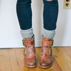 Learn how to wear cozy socks with your boots this winter, three different ways.
