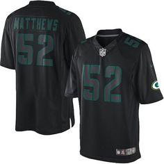 Mens Black Nike Elite Green Bay Packers http://#52 Clay Matthews Impact NFL Jersey$129.99