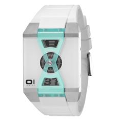 Reloj X-Watxh The One Blanco y Azul Turquesa con correa de policarbonato antialérgico Blanca  http://www.tutunca.es/reloj-the-one-x-watch-blanco-azul-turquesa