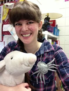 Freckles, flannel, a pig and a spider create a memorable E.B. White–inspired costume.