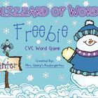 Practice CVC words with this fun winter themed FREEBIE!  Choose a card from the cup and stretch it out.  If you can read it correctly, keep the car...