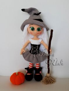 PATTERN Cute Witch crochet amigurumi por HavvaDesigns en Etsy