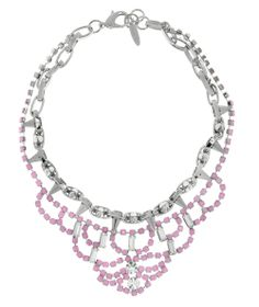 JOOMI LIM Let Them Eat Cake Silver Spike and Rose Crystal Necklace #Necklace #accessories