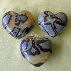 Crystal Properties and Meanings Septaria: #Septaria #Septarian Hearts #Dragonstone Enhance #Privacy support #publicspeaking #enhancecommunication good #grounding stones