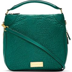 Marc by Marc Jacobs Green Pebbled Leather Shoulder Bag found on Polyvore