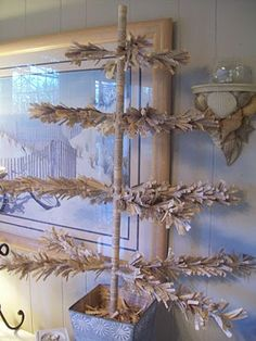 Boogieboard Cottage: DIY Shabby Christmas Tree And More.  Done with an old book!!!