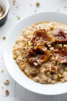 Caramelized Fig Toasted Oatmeal | http://cafedelites.com