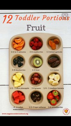 12 Toddler Portions: Fruit