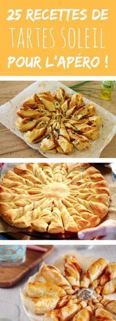 Au saumon, au jambon, au pesto, à la tomate : 25 recettes de tartes soleil pour l'apéro !                                                                                                                                                                                 Plus