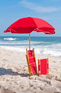 Amazing Beach Umbrella In Logo Red   QuickShip   Add a pop of color to your pool side or outdoor venue!