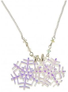 Tatty Devine snowflake necklace.  It looks different colors from different angles.
