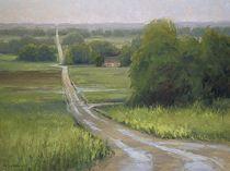 Vera Road in Rain by Kim Casebeer Oil ~ 18 x 24
