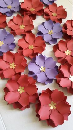 Plantilla/patrón de la flor de papel, flor de papel DIY - SVG corta archivo y PDF