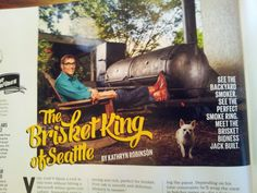 I'm famous! Seattle Met magazine article, with photo-bomb by my Chihuahua Lucy.  :-)