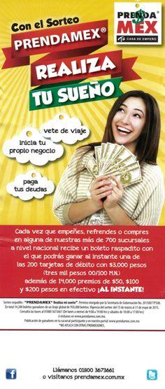 Con #PrendaMex puedes #ganar una de las 200 tarjetas de débito con $3000 además de 14,000 #premios en #efectivo.