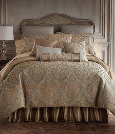 9 Pc Croscill Giselle Queen Comforter Set Euro Shams