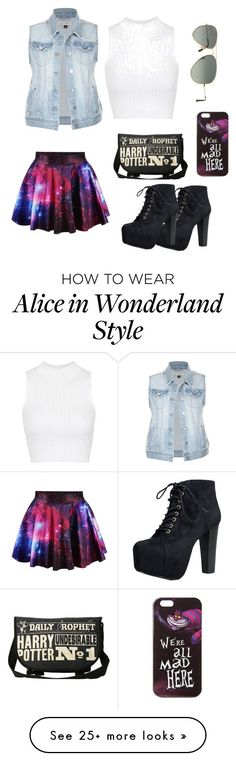 """hang out"" by celiachintara on Polyvore featuring Speed Limit 98, Topshop, Ray-Ban and Disney"