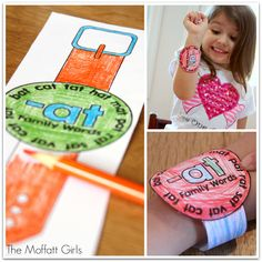 Word Family Watches!  Such a great way to have children practice reading word families throughout the day!