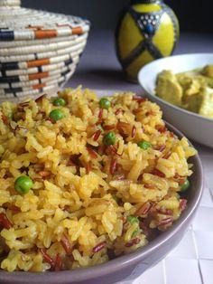 Curry de poulet au lait de coco et riz parfumé à l'indienne