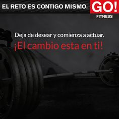¡El cambio esta en ti! #gofitness #clasesgo #ejercicio #gym #fit #fuerza #flexibilidad #reto